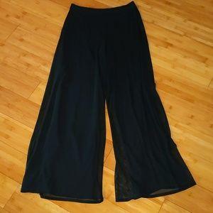Tadashi stretch wide leg mesh dress pants medium